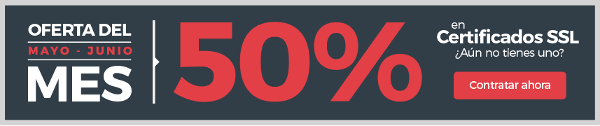 Oferta 50% certificados ssl